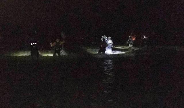 道南某河口に鮭(アキアジ)釣り。朝5時の進水式はただの鬼畜ゲーである。