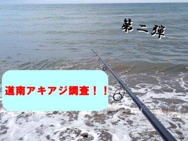 函館近郊鮭(アキアジ)釣り調査。本命の姿も見え始めた!?
