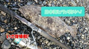 【復帰釣行】日本海サーフでヒラメ狙い!狙い通りに炸裂!