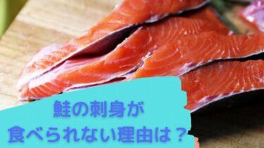 鮭の刺身が食べられないのはなぜ?実はアニサキス以外の危険も!!