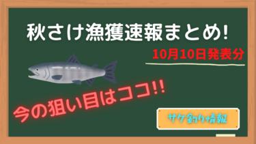 【鮭釣り】10日最新!秋さけ漁獲速報更新!今釣れているのはココ!?
